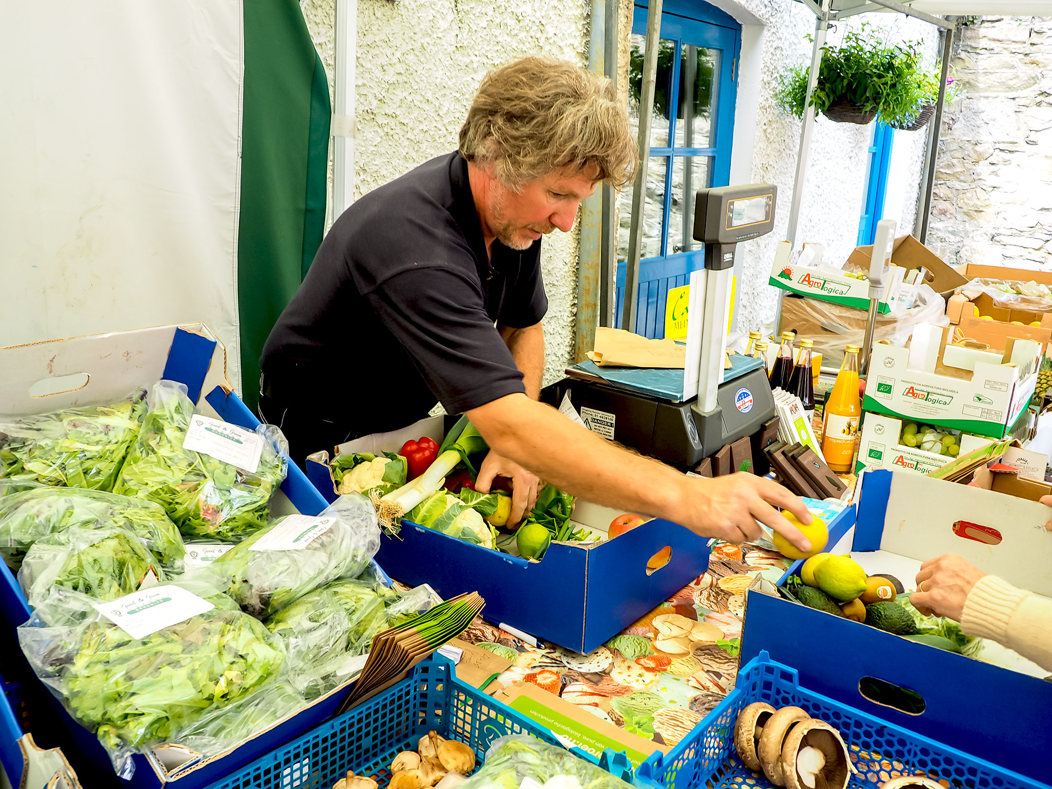 Adrian from Good & Green Organics, Boyle Courtyard Market, County Roscommon.