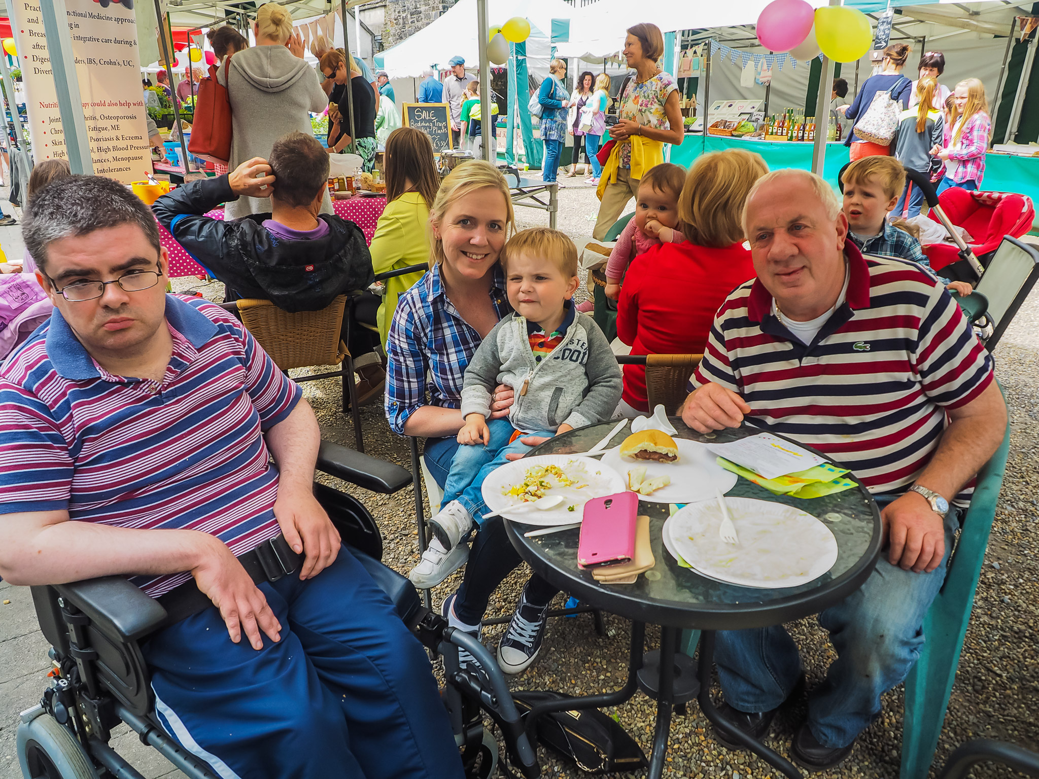 Enjoying the sun at our Festival of Food 18th June '16, Boyle Courtyard Market, County Roscommon.