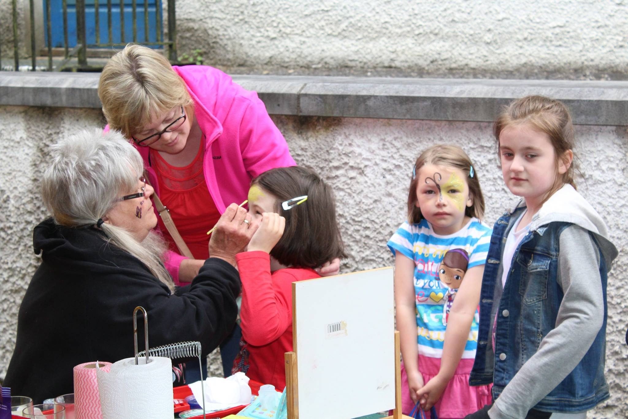 Our resident facepainter, Eva hard at work, Boyle Courtyard Market, County Roscommon.