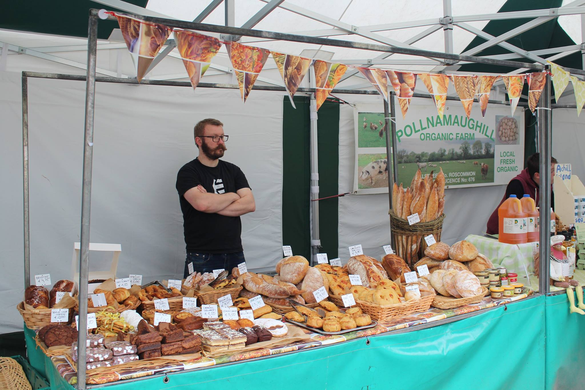 Thomasz from Le Fournil Bakery, Boyle Courtyard Market, County Roscommon.