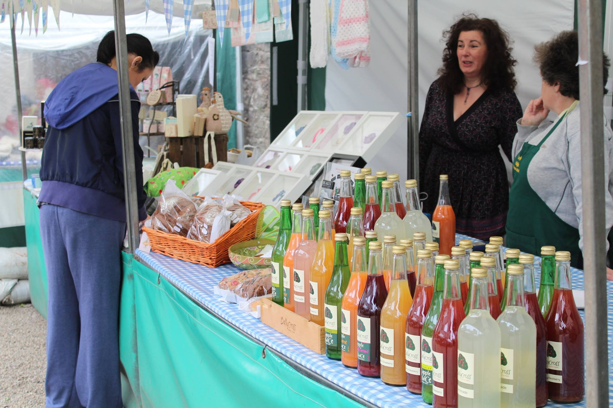Some of our lovely stall holders, Boyle Courtyard Market, County Roscommon.