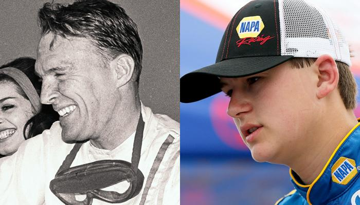Todd Gilliland (right) can match the all-time NASCAR K&N Pro Series winning streak to start a career set by Dan Gurney (left) with a victory this weekend. NASCAR via Getty Images