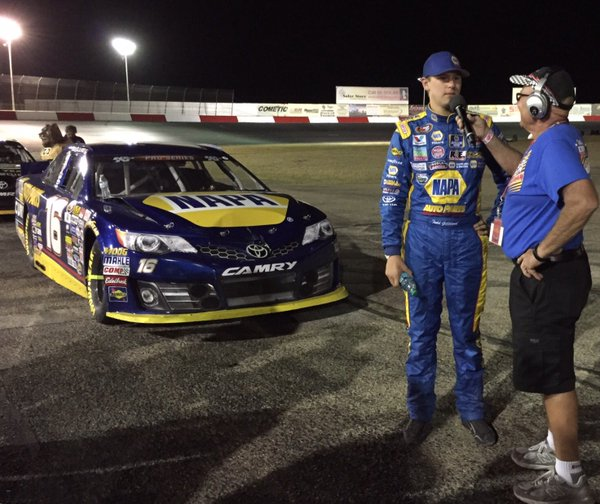 Interview of Todd after finishing 2nd in KNWest Race at Tucson Speedway.jpg