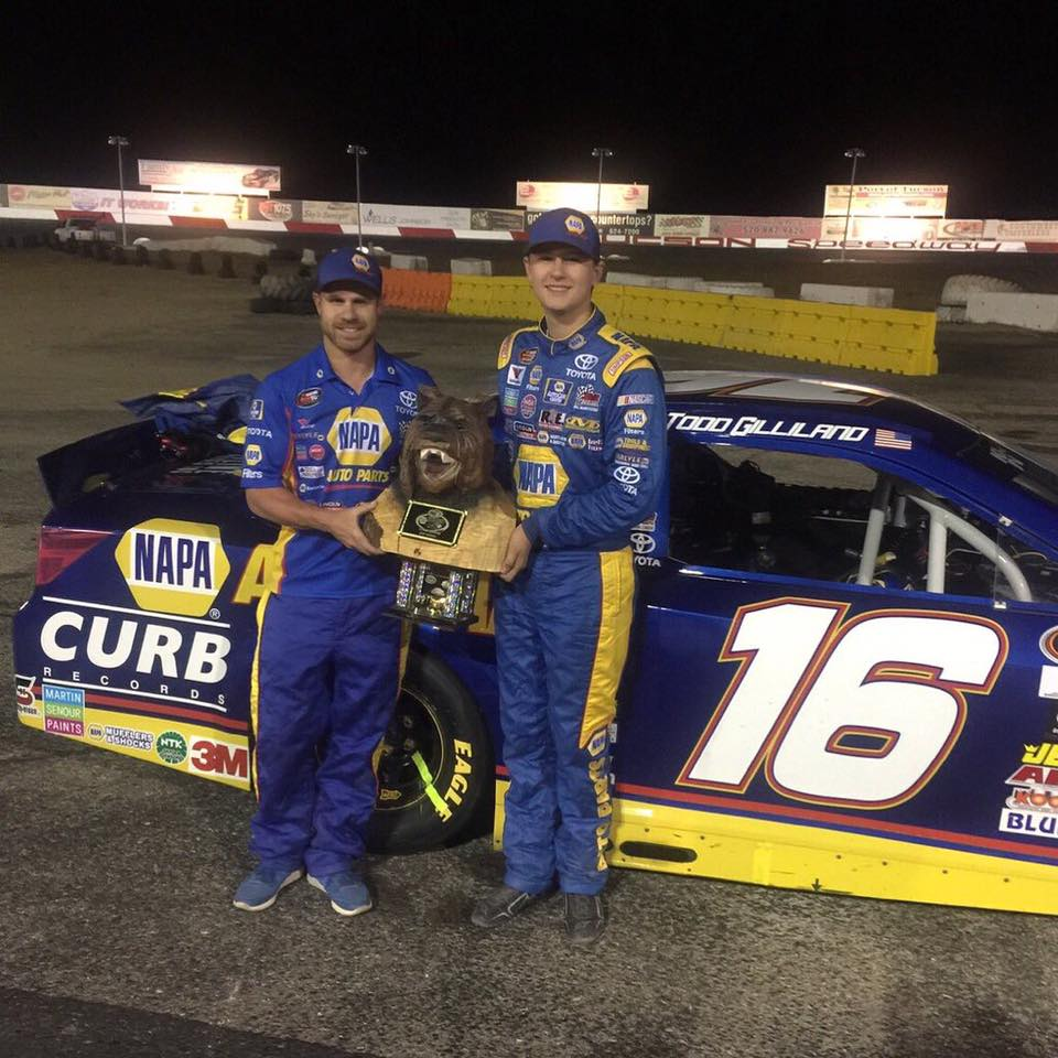 Todd finished 2nd in NKNPSW Event at Tucson Speedway, May 7th, 2016, in the #16 NAPA Car.jpg