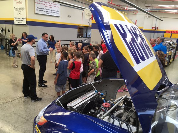 Bill McAnally & DavidGilliland talk to North Country Elementary School 2nd graders on a field trip to BMR_NASCAR.jpg