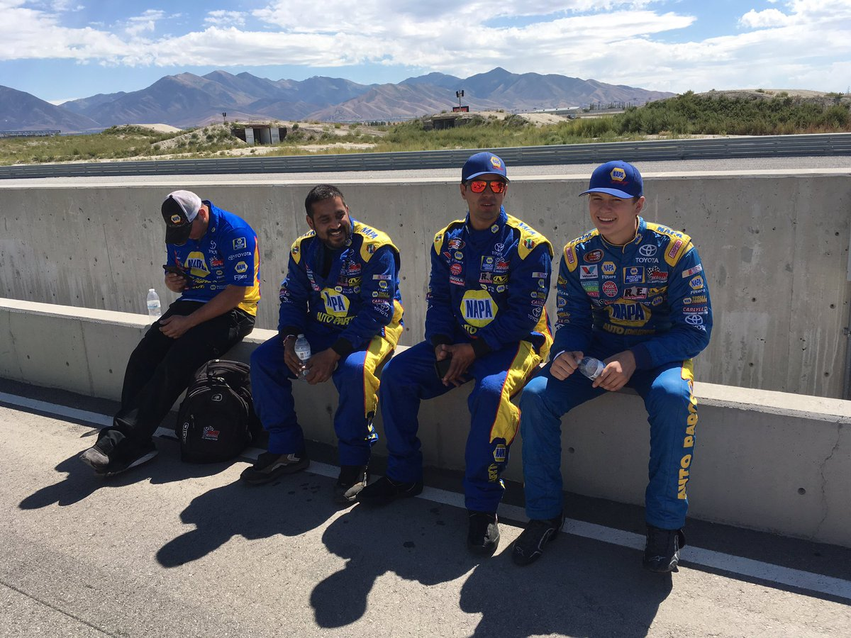 ToddGilliland_ and crew members prior to today's #KNWest race at @UtahMotorCampus - @NAPARacing @ToyotaRacing.jpg