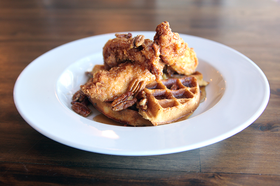 Buttermilk Fried Chicken and Waffles Entree
