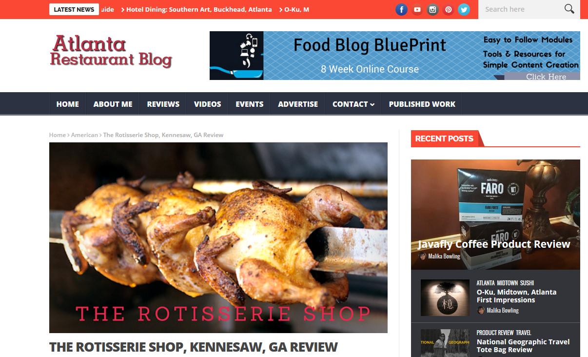 Atlanta Restaurant Blog, January 2016