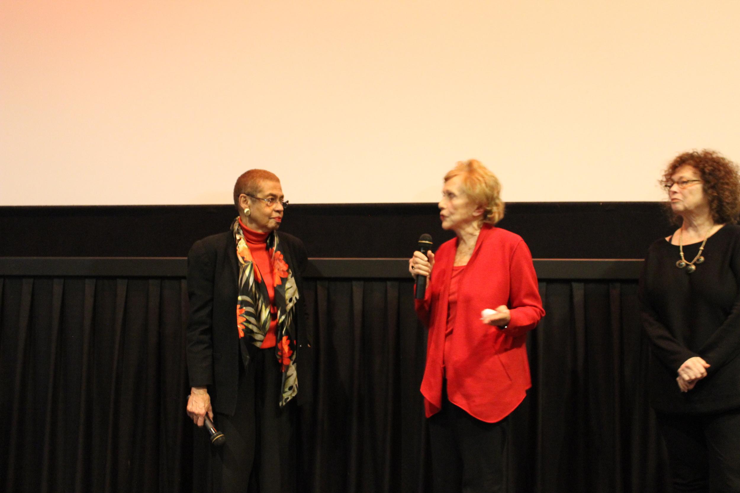 Congresswoman Eleanor Holmes Norton and Marlene Sanders