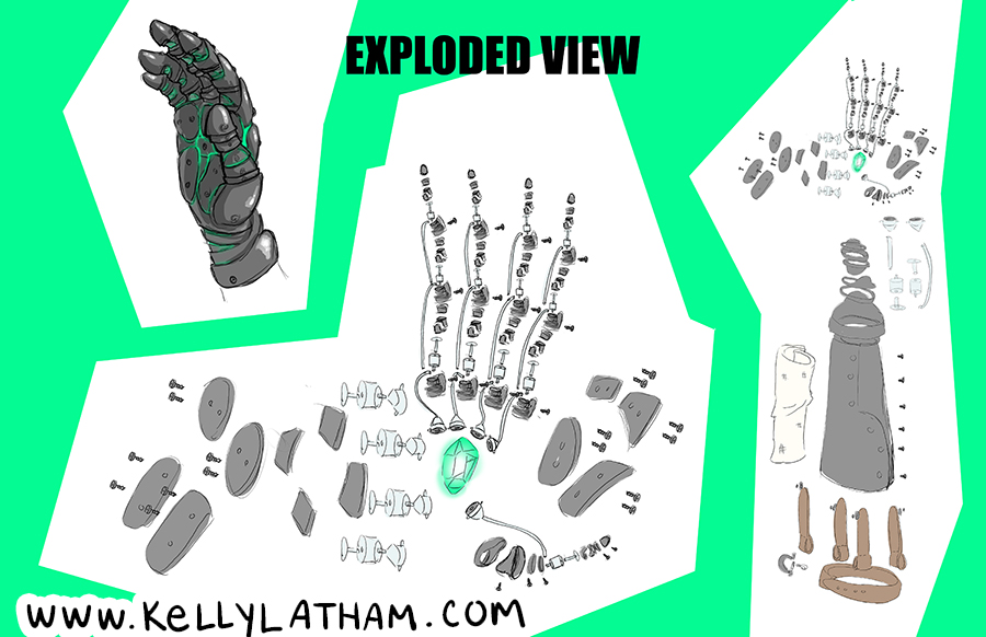 Emma Hand Exploded View