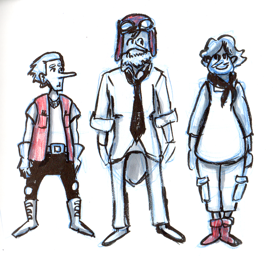 Preliminary Character Designs