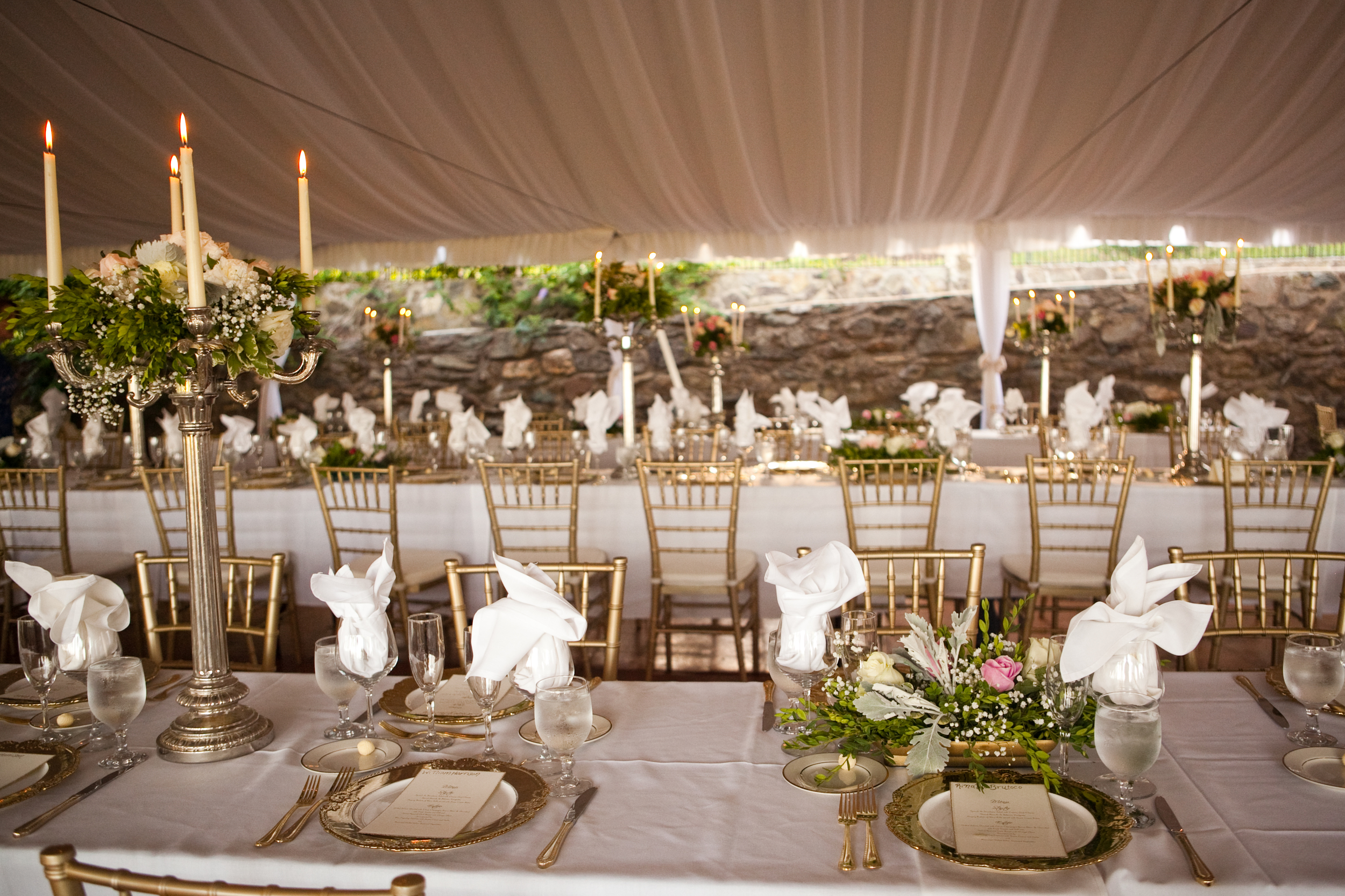 200 + Person Tent, with Wine Country view, attached to the Manor House.