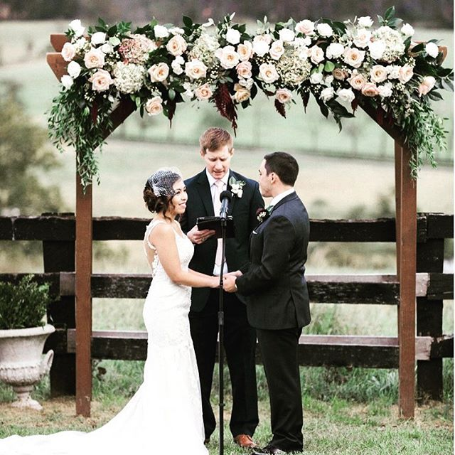 """""""You are what happened when I wished upon a star"""" true love!  @highholdborne @alimclaughlin photography  #dcbride #mdbride #vabride #weddingarch"""