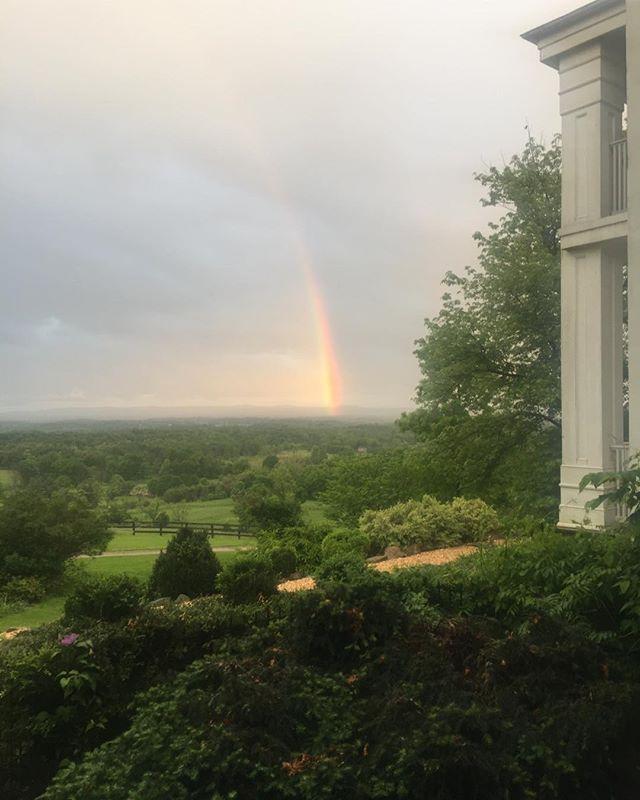 Highholdborne estate... we're here under the rainbow.  #destination Wedding #Www.highholdborne.com #Weddings  #loudoun weddings #visit loudoun.