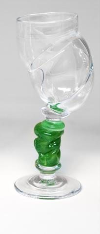 Bubblicious vinglass grønn
