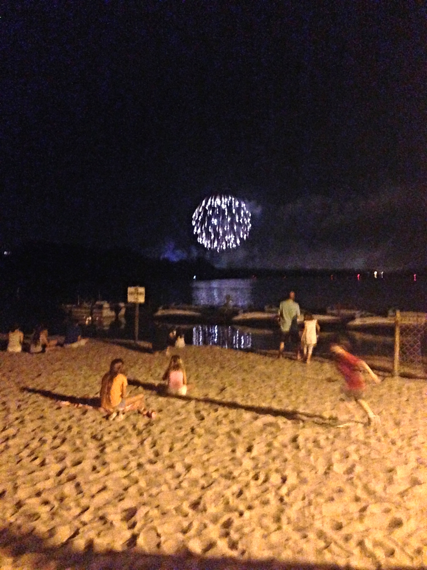 Watching the nightly fireworks from the resort beaches.