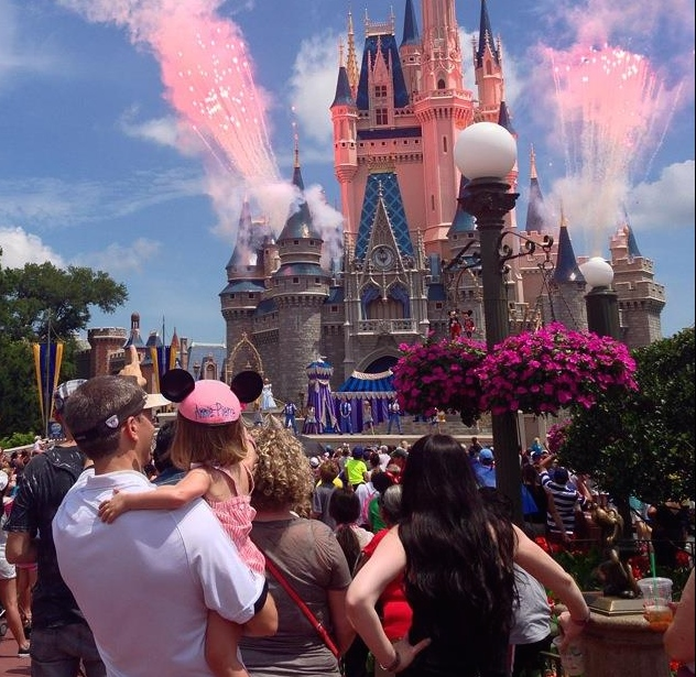 Making magical memories, Annie Pierce and her Daddy