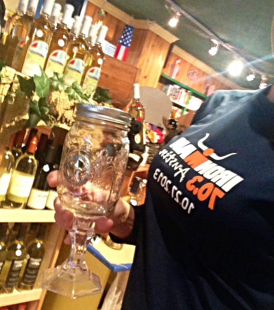 My favorite Texas souvenir--mason jar wine glass, of course!