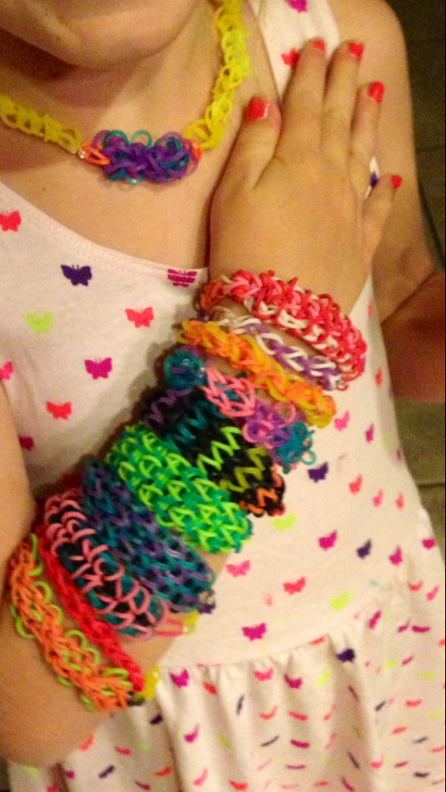 The Queen of Rainbow Loom--she gets lost in creating. http://www.amazon.com/Rainbow-Mini-Loom-Travel-Kit/sim/B00CGC8GB0/2
