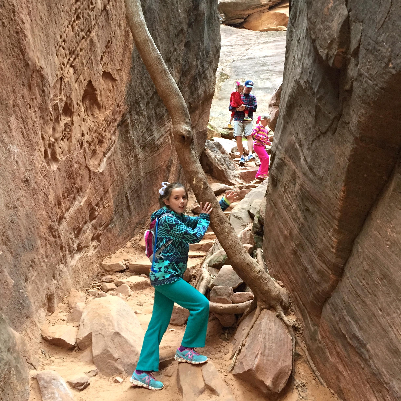 The kids did a great job hiking Emerald Pools Trail.