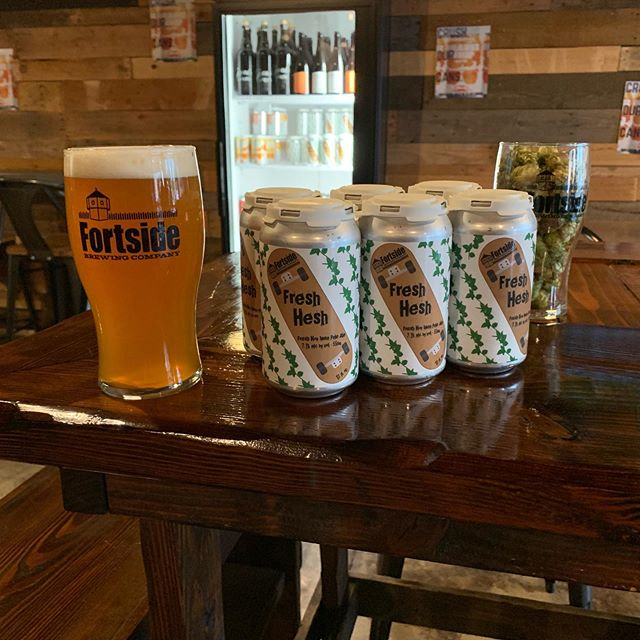 "New beer 🚨 ""Fresh Hesh"" is a Fresh Cascade Hopped IPA that we just canned and have on draft!  Try it while it lasts!"