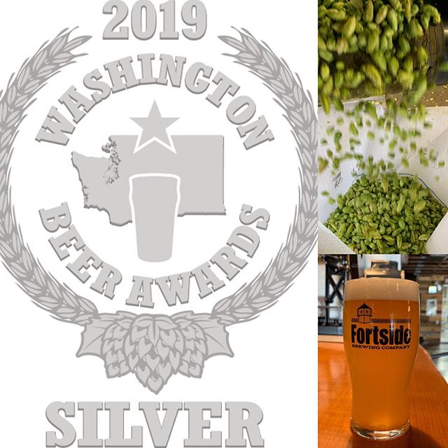 "Just in... We also just won a Silver Medal at the Fresh Hop version of the #washingtonbeerawards2019 For Fresh Prince of Pale Ale! If you missed that one, still have some Fresh Hop ""Straight Outta Yakima"" on tap! #dontmissit #beerstrong #washingtonfreshhopbeer #strengthofbeerknowledge"