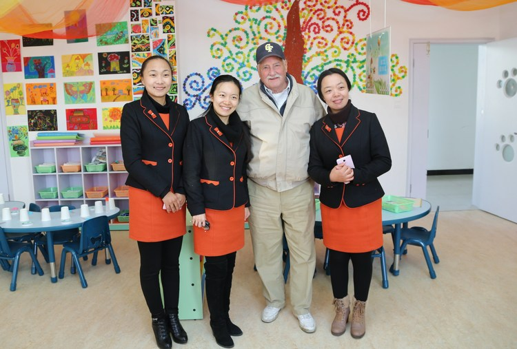 Some of our Chinese teachers with the President of Chapel Field.