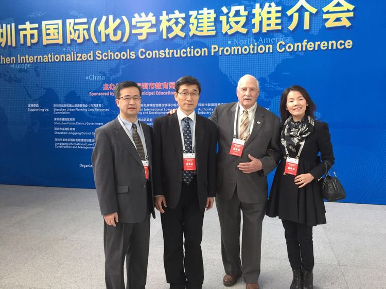 The President of Chapel Field with some of our supporters in Shenzhen.