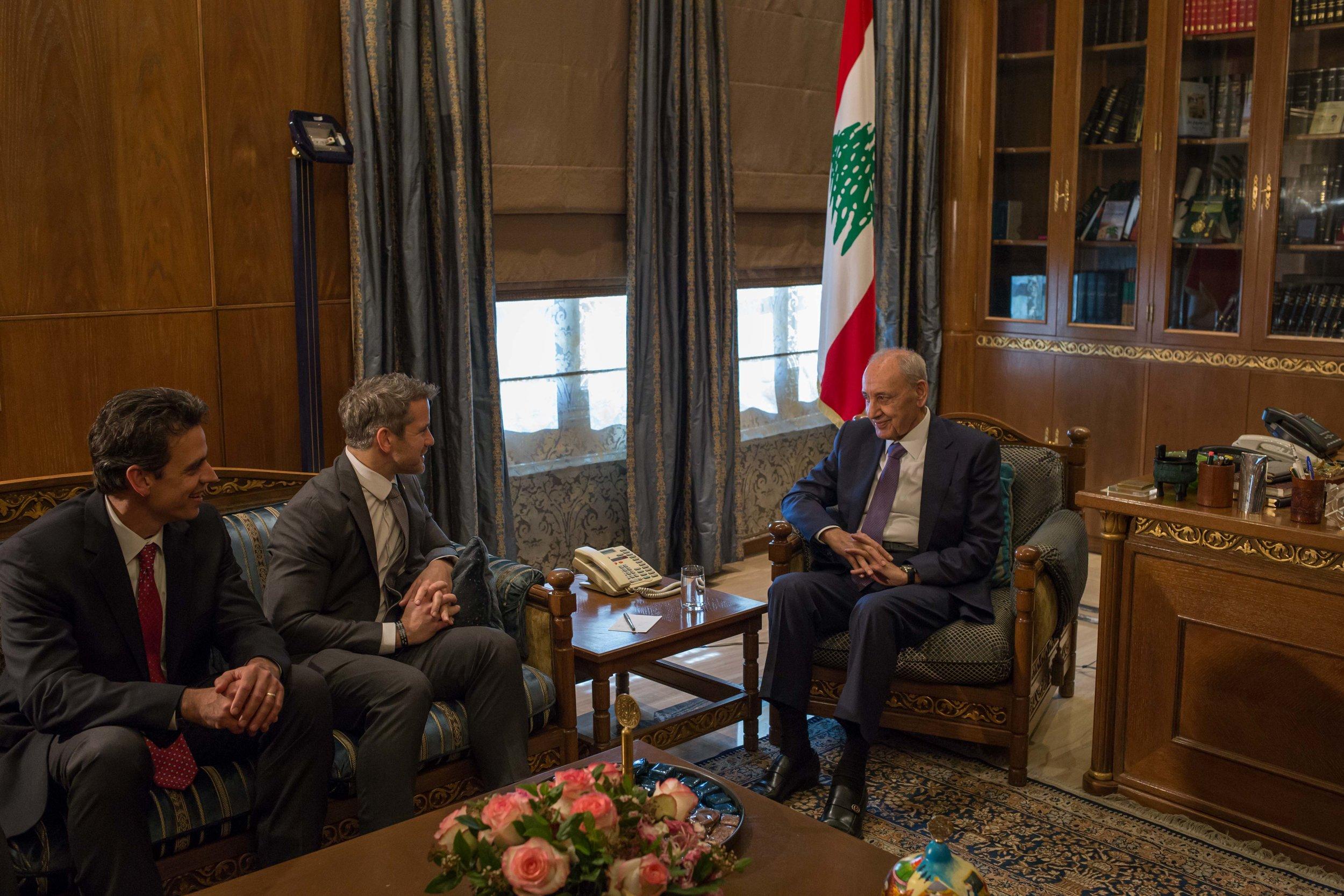 UN Foundation meets Parliamentary speaker for Lebanon, Nabih Berri. April 2019