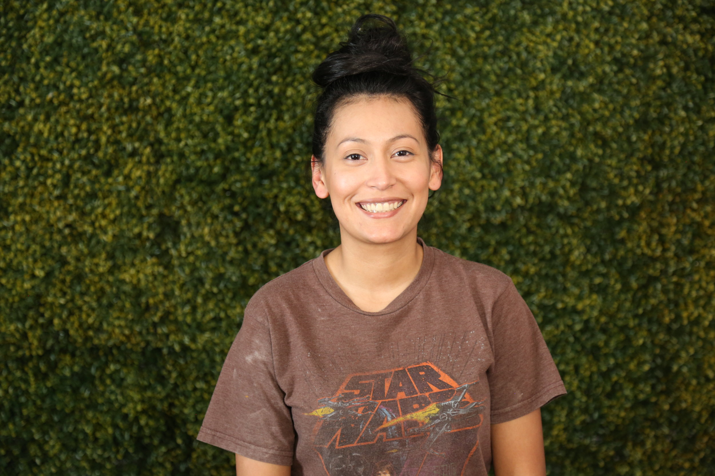 """Betsi Santos   introduction into Art Department came from the all too known challenge of """"I want to be an Artist!… but how can I get paid doing it"""". Her passion for Oil painting has never left, graduating with a BFA from Eastern New Mexico University. Since joining the BLK&Ginger team she has ripped down the wall of knowledge jumping head first into Building, Scenic, Production Design, and Graphic Design… and I must say her entrance to our studio has brought the highest level of quality and detail!"""