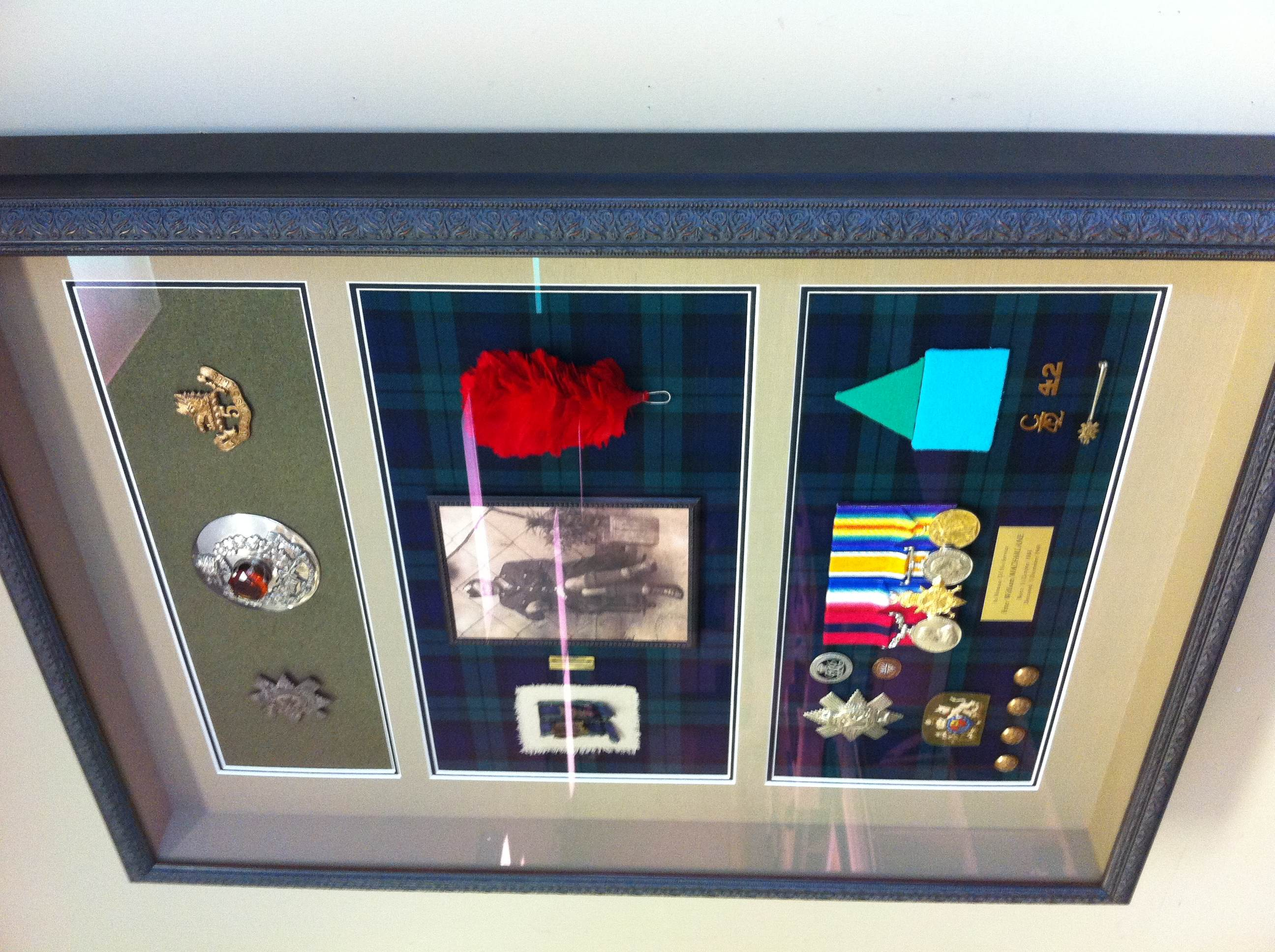 Historical Items in Metal Frame - Alternative Angle