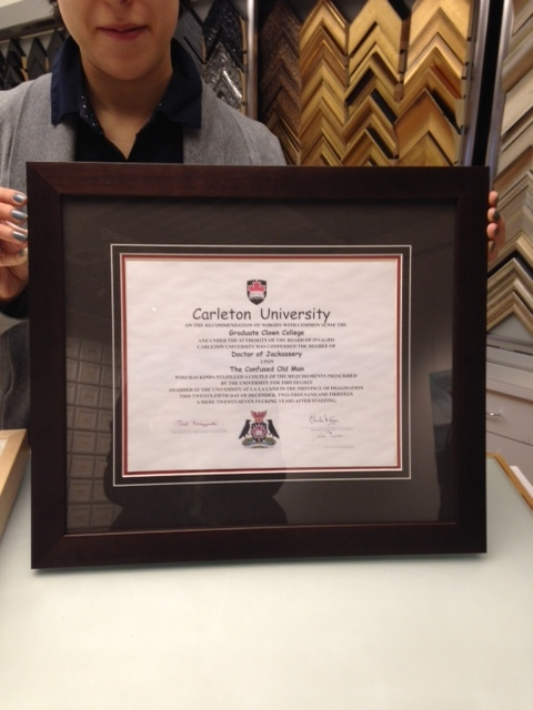 Framed Degree - Carlton University