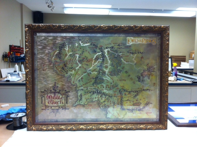 Framed Lord of the Rings Middle Earth Map