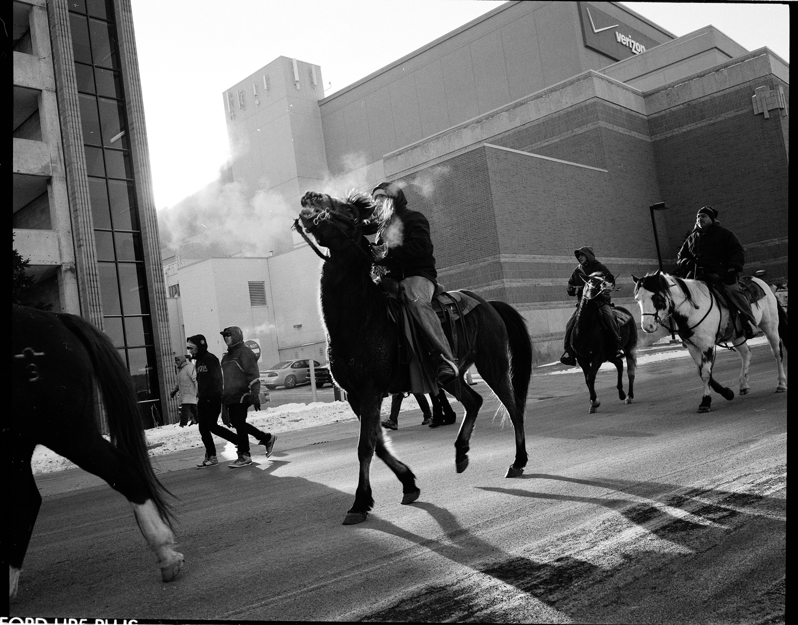 Photo credit: Andrew Lichtenstein, Dakota riders return to Mankato, 2012
