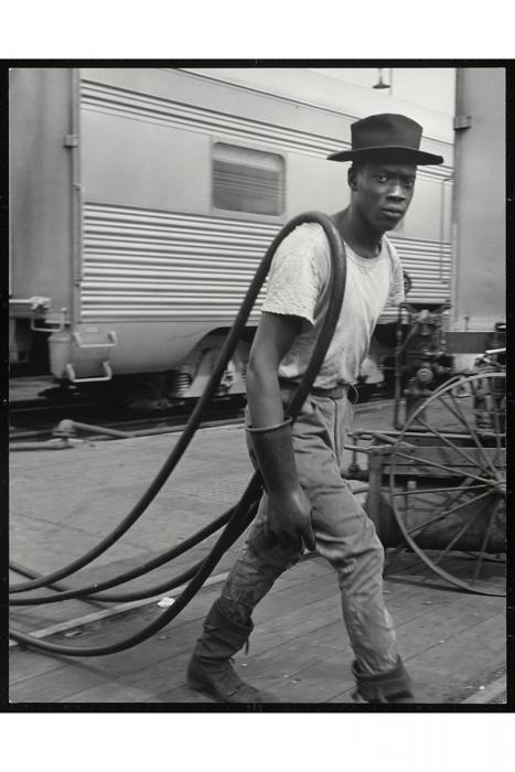 Untitled  , 1946-48  A railroad passenger car maintenance man  From the series  The Way of Life of the Northern Negro  Wayne F. Miller © Magnum Photos, 2009.24.8