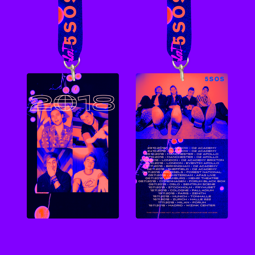 Lanyards for 2018 Meet You There Tour