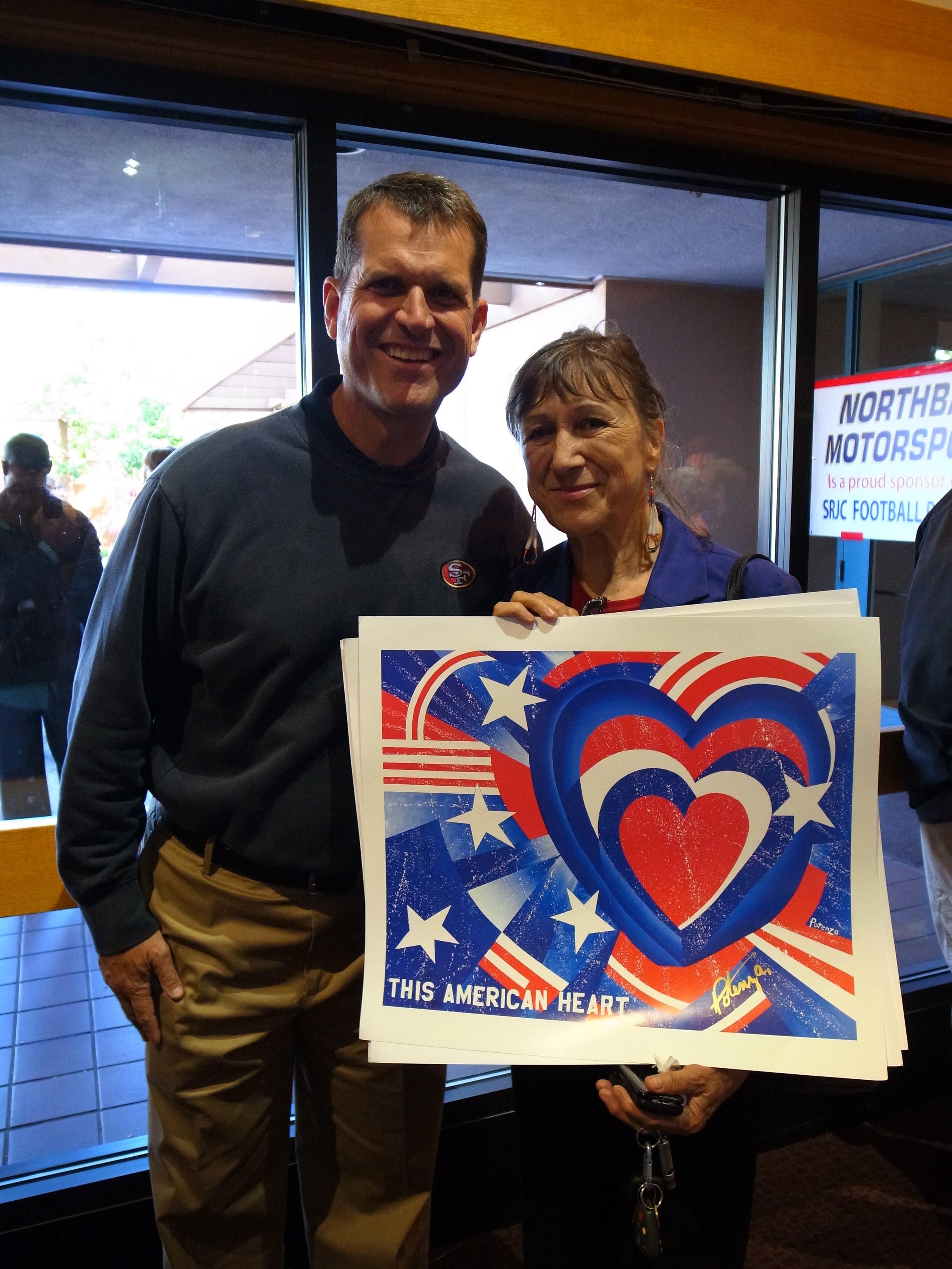 Jim Harbaugh, This American Heart