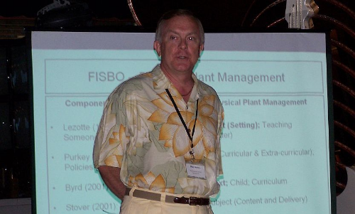 Phil presenting to the Florida Independent Schools Business Officials group about physical plant management
