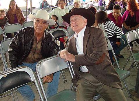 Phil and Juan Quezada Chat at Juan's 50th Anniversary