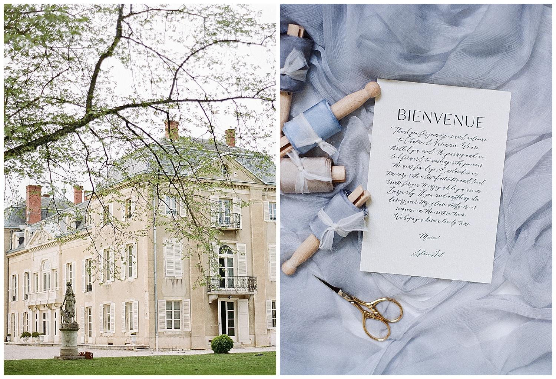 Chateau de Varennes, Yonder Design stationery; Sylvie Gil Photography