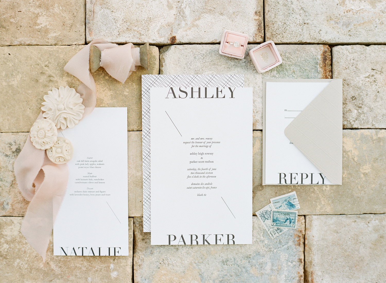 Yonder Design invitation suite; Sylvie Gil Photography