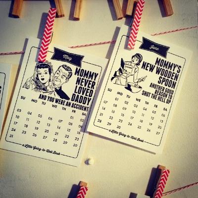 Little Going to Hell Calendars/Letterpress Jess