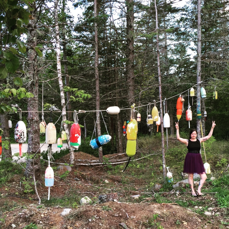 This is me in a buoy forest in Maine!