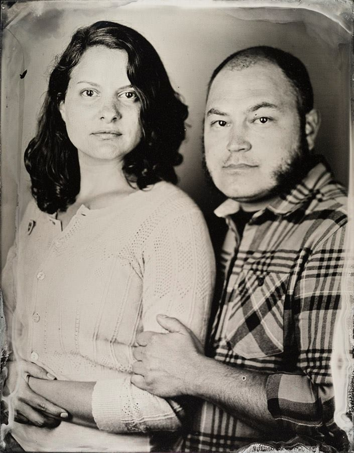 My husband and I got our portraits taken at a tintype studio in San Francisco on our honeymoon.
