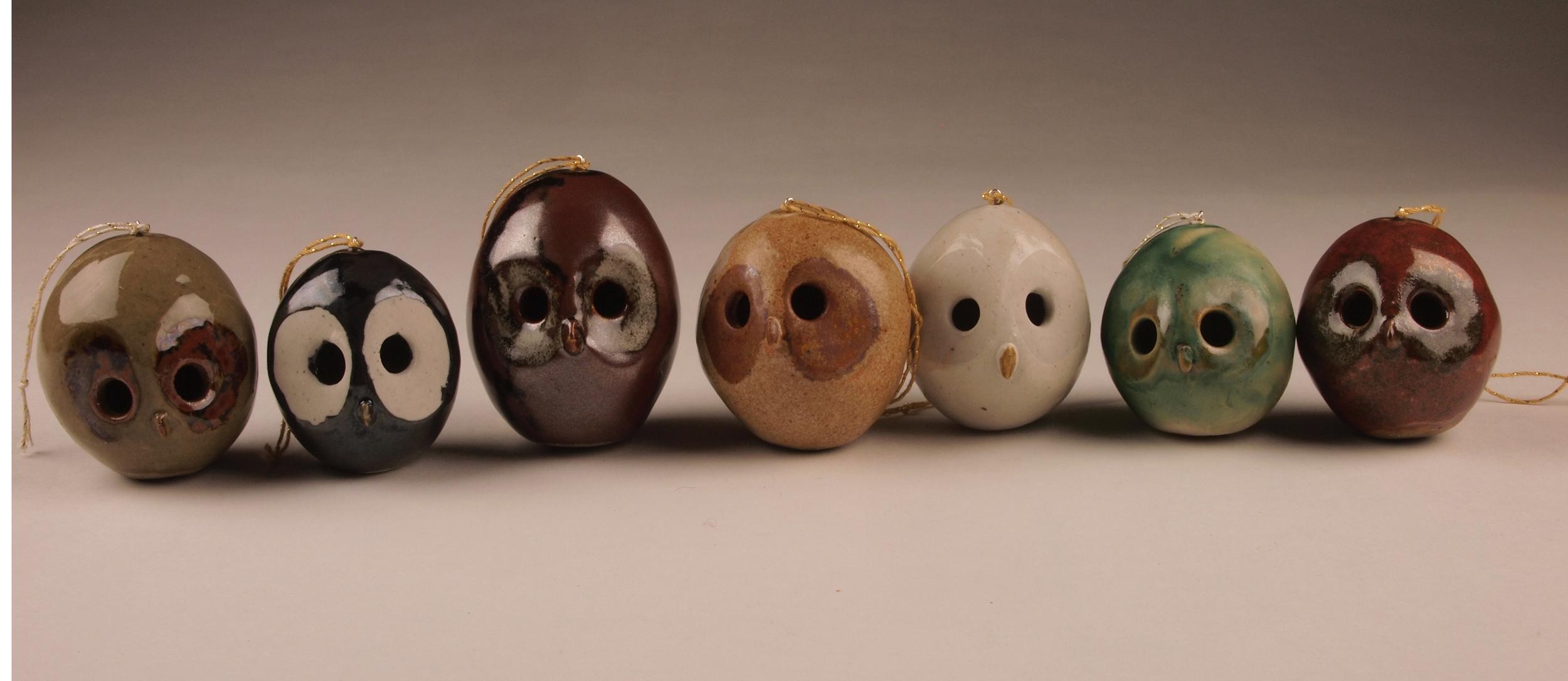 Owl ornaments.