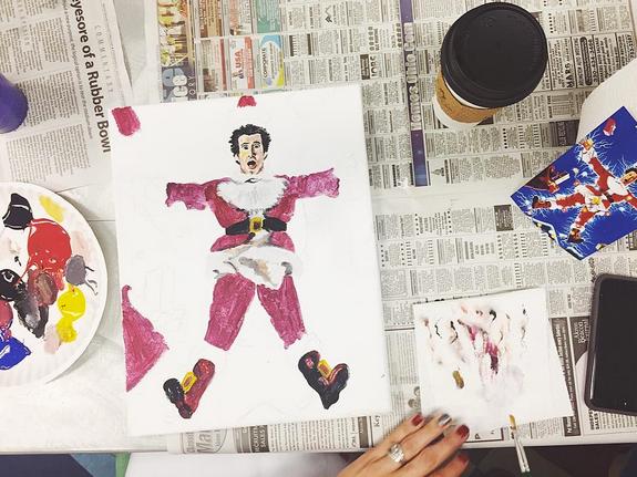 Painting workshop in progress. Photo: @smartstudioakron