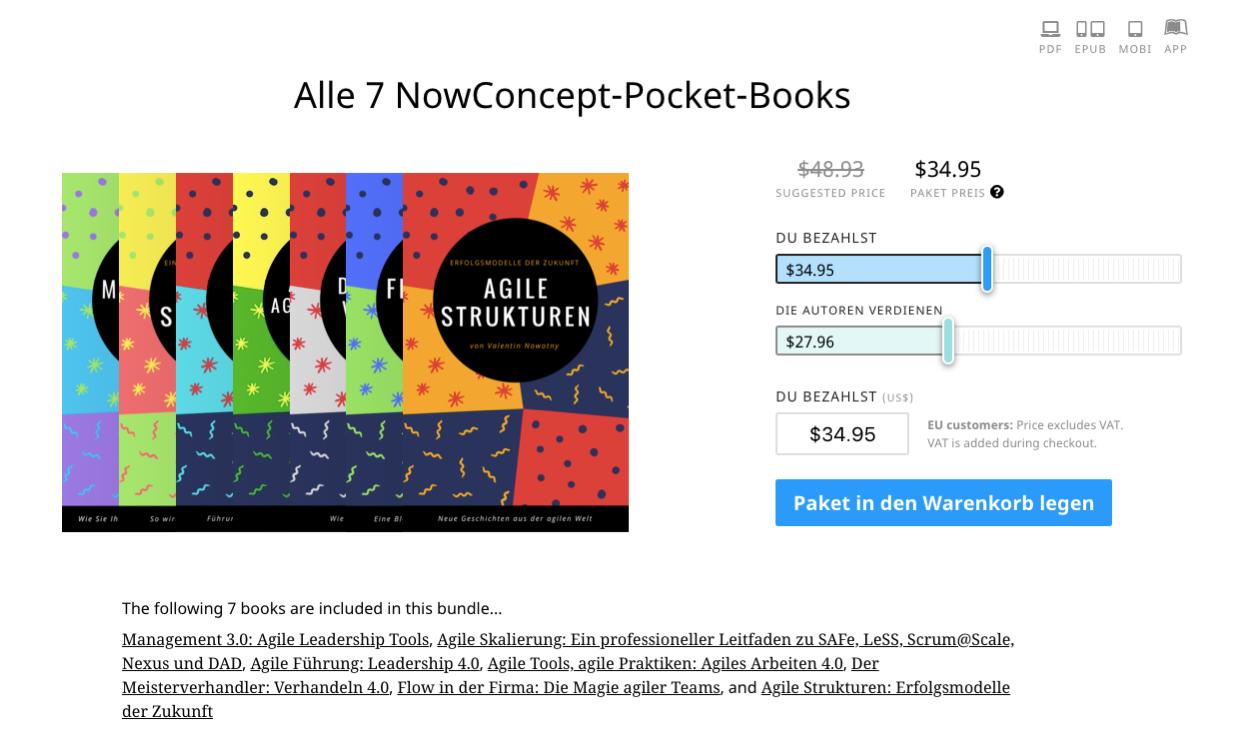 Der Silvester-Knaller - Jetzt alle 7 NowConcept Pocket Books in einem Bundle zum attraktiven Sonderpreis!