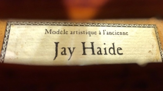 Jay Haide Violin Label