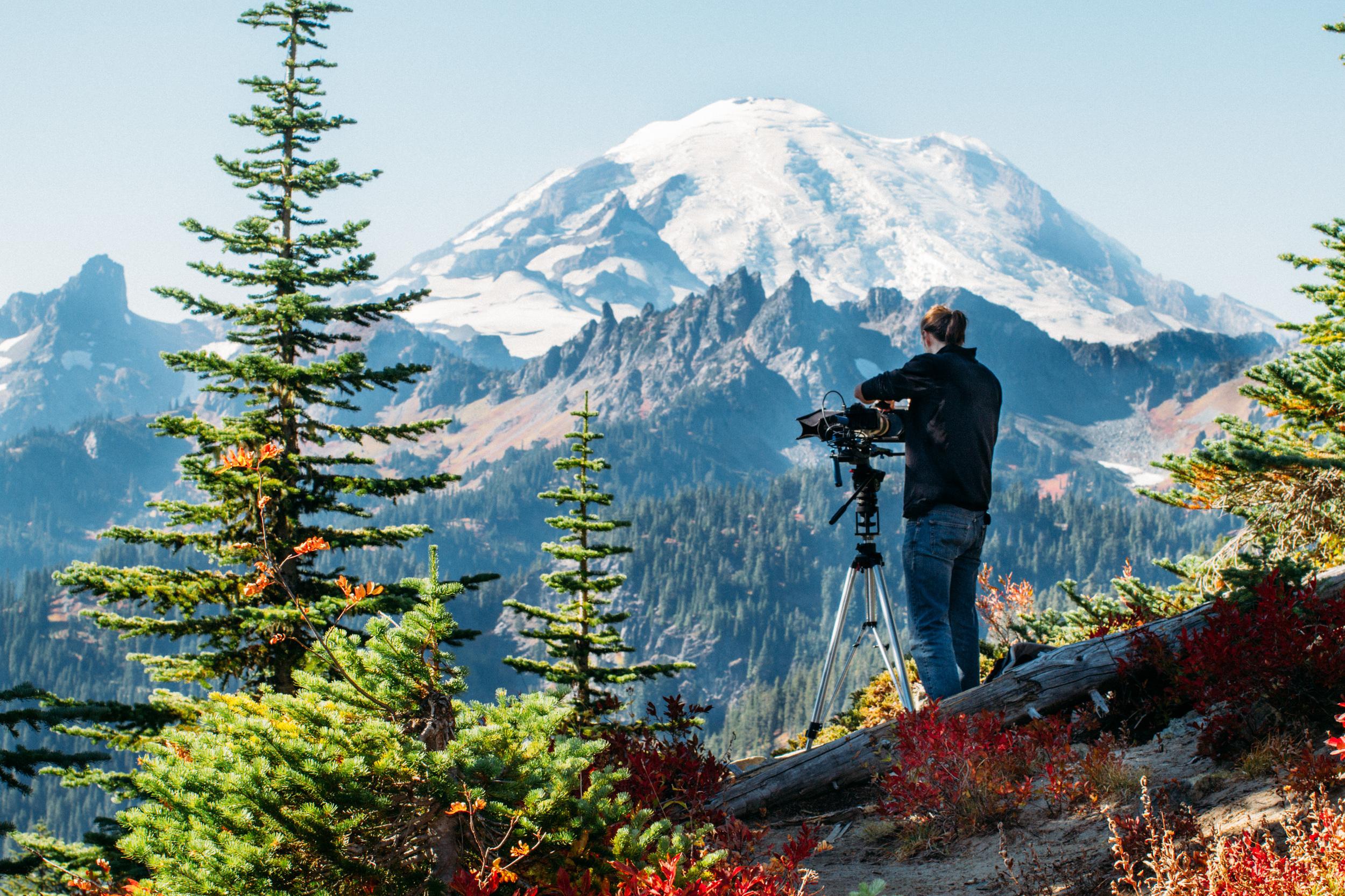 Filming Mt Rainier