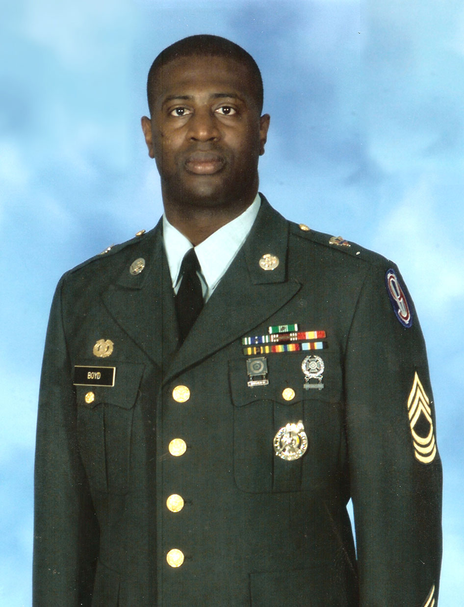 Standing tall as Master Sergeant